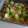 Thumbnail image for Roasted Brussels Sprouts and Chickpea Medley