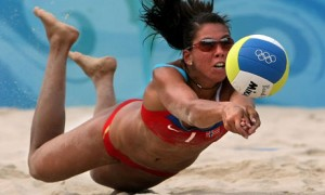 Beach volleyball players can cover up