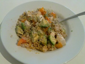 Post image for Healthy Vegan Fats – Avocado and Hemp Heart Rice Bowl