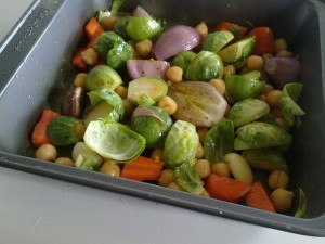 Post image for Roasted Brussels Sprouts and Chickpea Medley