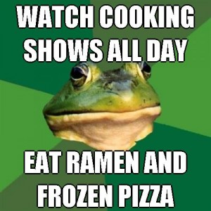 single vegan cooking watch-cooking-shows-all-day-eat-ramen-and-frozen-pizza