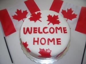welcome home canada cake