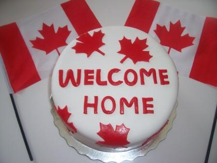 welcome home canada cake - The Tasty Vegan
